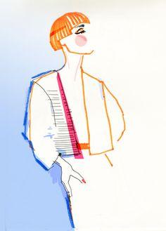 """new look, retro look""fashion łyk 2015 - fashion illustration"