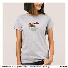 Dachshund Through the Snow Women's Basic T-Shirt