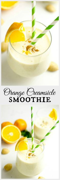 Remember those orange dreamsicle popsicles? Well this healthy orange creamsicle smoothie tastes like that, only it's actually good for you!