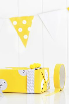 Be inspired to wrap your gifts beautifully with these ideas using our Hello Yellow collection