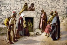 Shop Vintage Tomb of Lazarus Bethany Israel 1890 Postcard created by prawny_vintage. Personalize it with photos & text or purchase as is! Holy Week Timeline, Holy Week Days, Life In Russia, Wpa Posters, Travel Posters, Resurrection Day, Palm Sunday, Holy Land, Bible