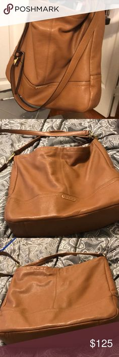 Coach Tan Leather, crossbody or shoulder hobo bag Bags