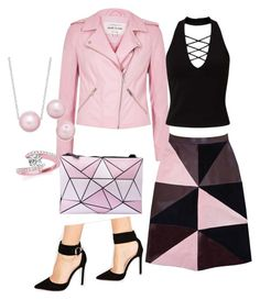 """Pink & Black"" by eda-edos on Polyvore featuring moda, River Island, Florence Bridge, Miss Selfridge, ASOS ve Allurez"