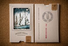 Business cards - Photography - Mini envelope and stamps with photos