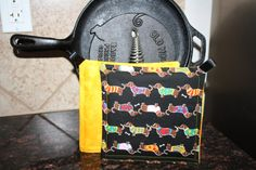 Dachshund Weenie Dog Potholders by AddiesThings on Etsy, $9.99