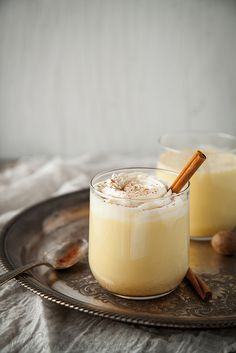 Homemade Eggnog (no raw eggs, and can be made with or without the alcohol)