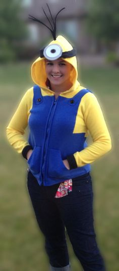 Hey, I found this really awesome Etsy listing at http://www.etsy.com/listing/156898819/despicable-me-inspired-minion-fleece