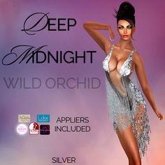 e907d43ee1c Deep Midnight by Wild Orchid Version now available! INCLUDES appliers for  your favorite mesh bodies