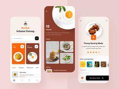 Ux Design, Motion App, Cooking App, Delivery App, App Design Inspiration, Mobile Ui Design, Apps, Ipad Tablet, Food Reviews