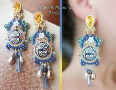 Soutache Earrings by Serena Di Mercione - #soutache #majolica #maiolica