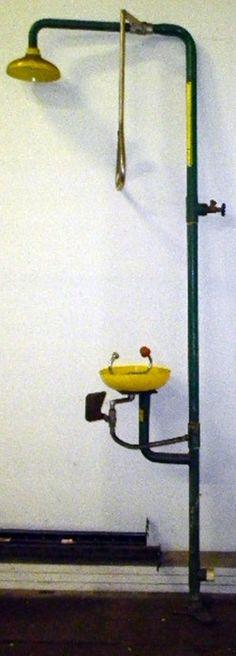 Used emergency wash station