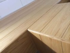 close up of oak tongue and groove panelling