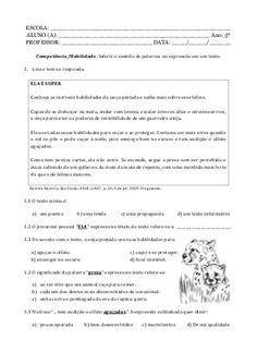 Caderno de atividade - 5º ano - Programa Primeiros Saberes da Infância