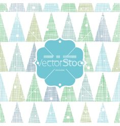 Abstract christmas trees forest in snow frame vector by Oksancia on VectorStock®