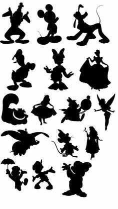 classic disney character silhouettes - Google Search