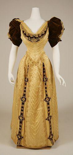 Evening Dress 1890s The Metropolitan Museum of Art