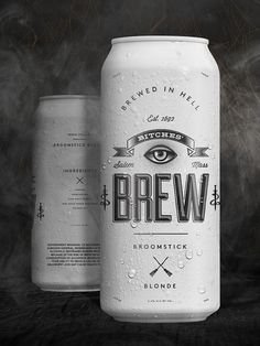 Bitches' Brew by Wedge & Lever. Visit page to see the rest of the product line packaging and branding. Beverage Packaging, Bottle Packaging, Coffee Packaging, Food Packaging, Craft Bier, Beer Label Design, Beer Brands, Packaging Design Inspiration, Bottle Design