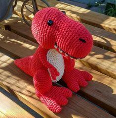 Ravelry: Travis the T-Rex pattern by Little Green Bear #crochet #amigurumi #dinosaur #trex