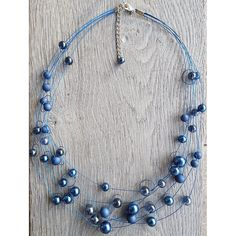 Ketting Liv donkerblauw Beaded Necklace, Jewelry, Fashion, Jewellery Making, Moda, Pearl Necklace, Jewelery, Jewlery, Fasion