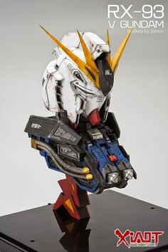 Custom Build: Magic Toys 1/35 RX-93 nu Gundam Head Display with LED - Gundam Kits Collection News and Reviews