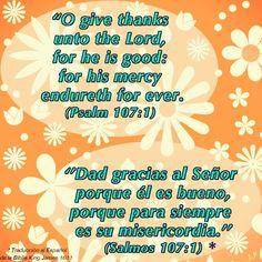 Psalm 107:1 /// Salmos 107:1