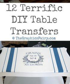 12 Terrific DIY Table Transfers