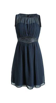 Fließendes Chiffon-Kleid mit Pailletten