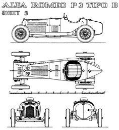 Alfa Romeo P3 Tipo B (1934/35) | SMCars.Net - Car Blueprints Forum