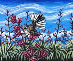 Fantail in the Harakeke (Flax) by Ira McCully Fine Art Giclee Photographic Print at Artist Rising. Artist Rising is the premier destination for discovering original art, fine art and photography prints, and limited edition art by living artists. Original Art, Original Paintings, Canvas Prints, Art Prints, Sign Printing, Lovers Art, Art For Sale, Cover, Saatchi Art