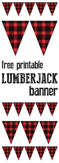 Print this adorable flannel patterned banner for your party. Print this adorable flannel patterned banner for your party. 1st Birthday Parties, Boy Birthday, Birthday Nails, Birthday Ideas, Birthday Crafts, Motto, Lumberjack Birthday Party, Accessoires Photo, Camping Parties