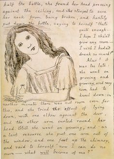 Images of Manuscripts by Famous Authors: Alice's Adventures in Wonderland.