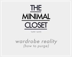 Minimalism isn't for everyone, but for me, it is the natural progression of my desire to have  quality pieces over MORE pieces, my financial constraints/goals right now (getting out of debt), and m...