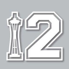 Seattle 12 White Diecut Sticker