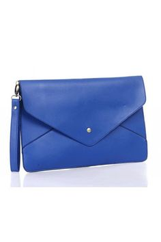 The clutch bag crafted in PU, featuring oversized rectangle shape, retro and elegant envelope design with fold over flap fastening to the front with magnetic stud detail and long detachable shoulder strap.$25