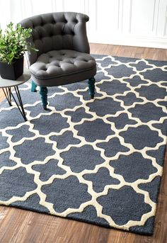 $5 Off when you share! Tuscan Terali Moroccan Trellis Sunshine Rug | Contemporary Rugs #RugsUSA