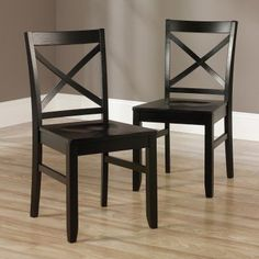 Sauder Woodworking Harbor View X-Back Dining Chair - Set of 2 - 415236 Dining Room Furniture Sets, Blue Dining Room Chairs, Kitchen Chairs, Dining Chair Set, Side Chairs, Kitchen Dining, Furniture Ideas, Woodworking Ideas For Girlfriend, Sauder Woodworking