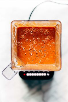 This 5 Minute Blender Enchilada Sauce is quick, easy, and full of vegetables! Healthy, easy, homemade enchilada sauce.