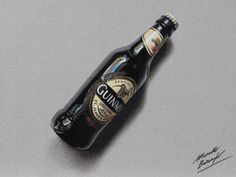 A bottle of Guinness beer by marcellobarenghi.deviantart.com on @deviantART