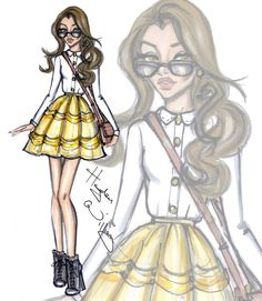 Disney Diva Fashionistas by Hayden Williams: Belle Hayden Williams Fashion Illustrations Hayden Williams, Moda Disney, Disney Mode, Fashion Art, Trendy Fashion, Girl Fashion, Fashion Design, Paper Fashion, Fashion Ideas