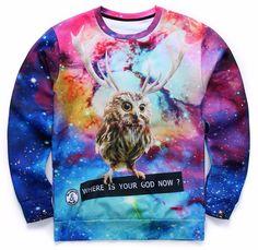 Galaxy Owl Sweatshirt