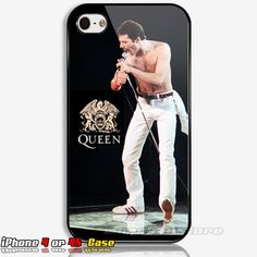 Freddie Mercury Queen Rock Band Legend Custom iPhone 4 or 4S Case