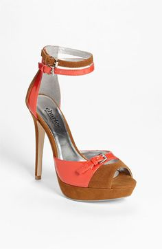 Charles by Charles David 'Caspian' Sandal (Online Exclusive) In Berry/Ginger (also in black/Cream) | Nordstrom