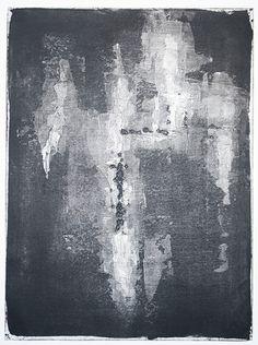 SURFACE LEVEL 1,200.00 (2014) Monotype  SKU: DT 027   24 x 18 (31.5 x 25.5 framed)
