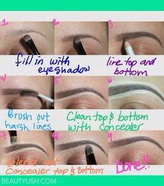 Make thin eye brows fuller