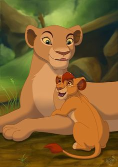 Nala and her son, Kopa yes Nala had a son it's the cub we see at the end of film 1