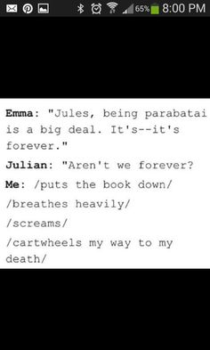 Why dose she always have to make impossible for my ships to date I mean really.