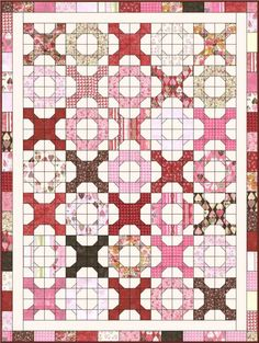 Hugs 'N Kisses Quilt - jelly roll