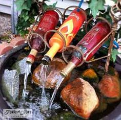 How To Make A Wine Bottle Fountain Or Just Be Inspired