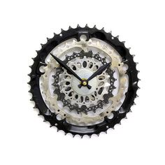Steampunk Clock, Recycled Bike Parts Clock, Cycling Clock, Cyclist Clock, Bicycle Clock, Bicycle Gear Clock, Unique Clock