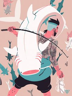 ~Greg Wright's Art Tumblr~ — Sir Fish  by Greg Wright for Light Grey Art Lab's...